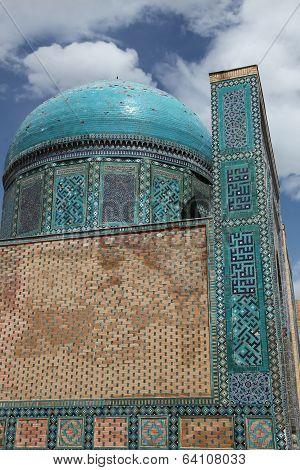 Decoration of the Shakhizinda complex, Samarkand, Uzbekistan