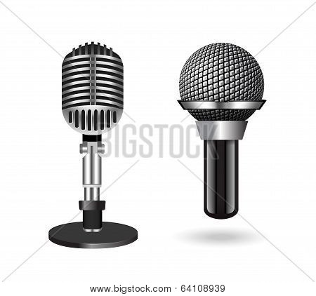 silver microphones