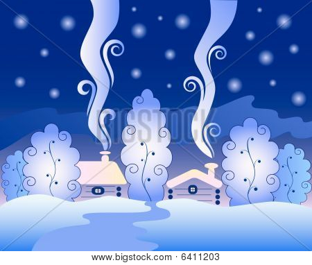 Freezing winter night