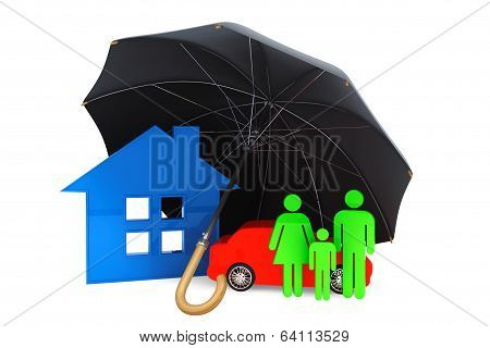 Black Umbrella Covers Home, Car And Persons