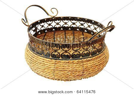 Wicker Basket For Bread Or Fruits