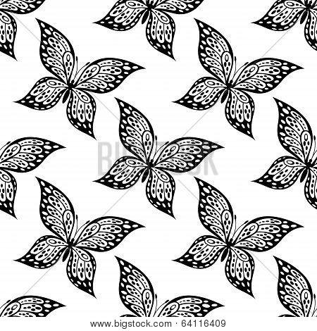 Seamless pattern of beautiful butterfly