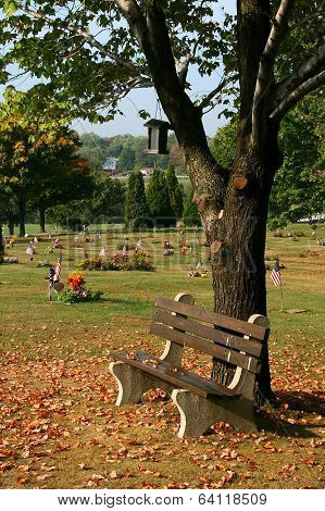 cemetery bench, Hickory, Pennsylvania