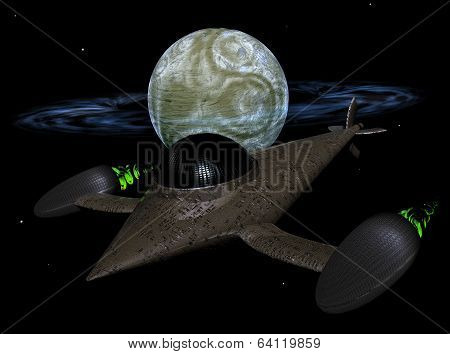 Spacecraft in space