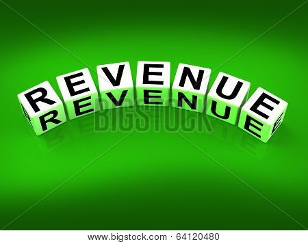 Revenue Blocks Mean Finances Revenues And Proceeds