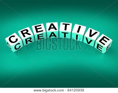 Creative Blocks Mean Innovative Inventive And Imaginative