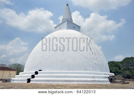 The buddist temple at Anuradhapura Sri Lanka