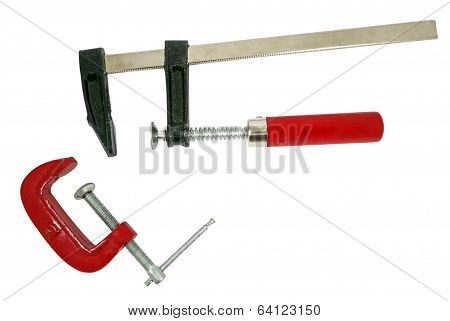 C Clamps On White