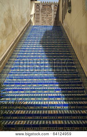 Blue Ceramic Steps