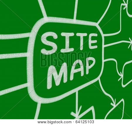 Site Map Diagram Means Layout Of Website Pages