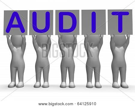 Audit Banners Means Financial Audience Or Inspection
