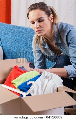 Wife Packing Clothes