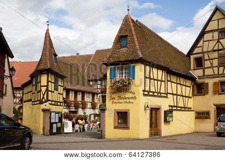 Nice Little Houses In Eguisheim Village In France