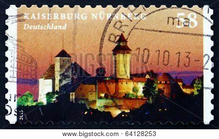 Postage Stamp Germany 2013 Kaiserburg Nurnberg