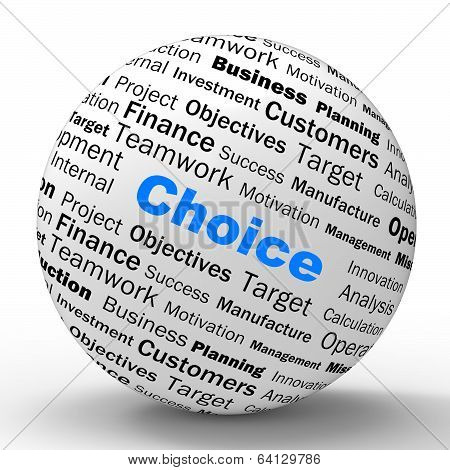 Choice Sphere Definition Shows Confusion Or Dilemma