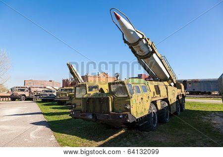 Togliatti, Russia - May 2, 2013: Launcher With Rocket Missile Complex