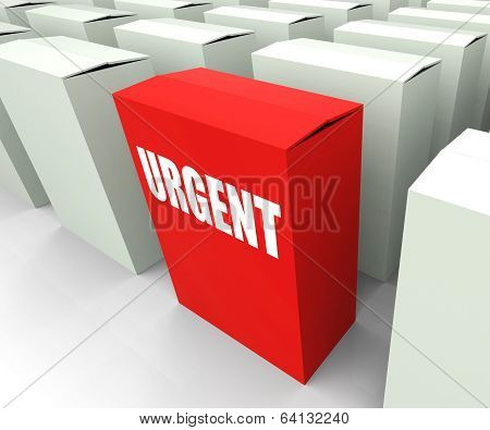 Urgent Box Refers To Urgency Priority And Critical