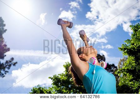 Fitness Woman In Sport Lifestyle Working Out