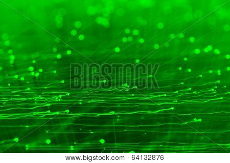 High tech green light effect background