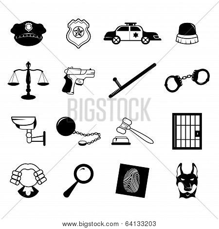 Law Enforcement Icons
