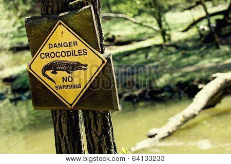 Danger Crocodiles, No Swimming