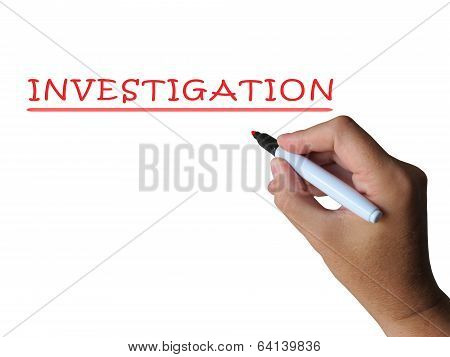 Investigation Word Means Examination Inspection And Findings