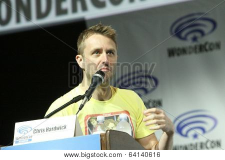 APRIL 19-ANAHEIM, CA: Chris Hardwick moderates a panel discussion for