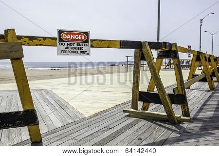 After Hurricane Sandy:  Asbury Park, New Jersey Boardwalk Rebuilding