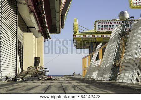After Hurricane Sandy:  Seaside Heights, New Jersey Boardwalk