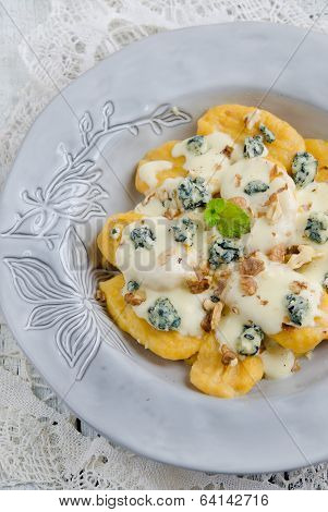 Italian home made pumpkin gnocchi