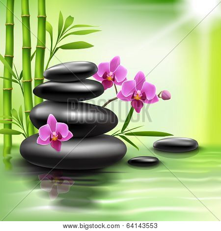 Realistic spa background