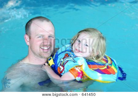 Daddy Daughter Swimming