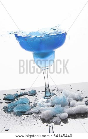 Blue Frozen Iceberg Margarita Splash