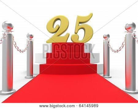 Golden Twenty Five On Red Carpet Means Movie Anniversary Or Reme