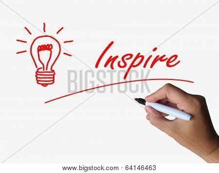 Inspire And Lightbulb Refer To Inspiration Motivation And Influe