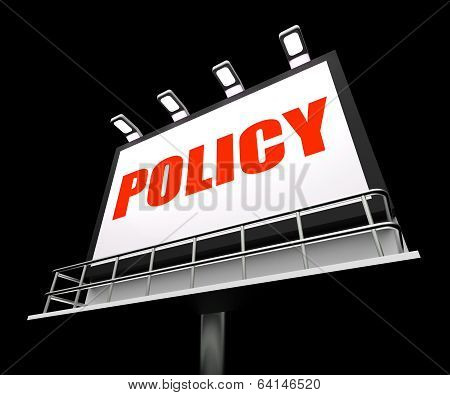 Policy Media Sign Means Code Protocol And Guidelines