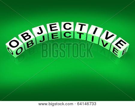 Objective Blocks Mean Goals Targets And Objectives