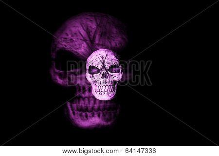 Purple Ghost Skull