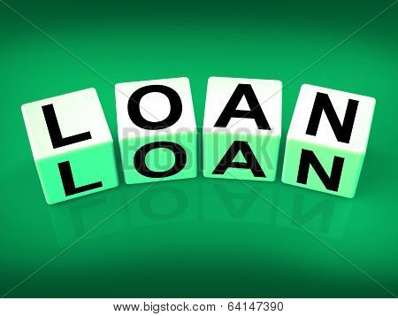 Loan Blocks Mean Funding Lending Or Loaning