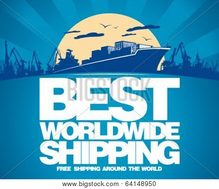 Best worldwide shipping design template.