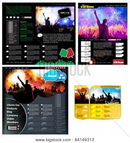 Set of web design template, vector