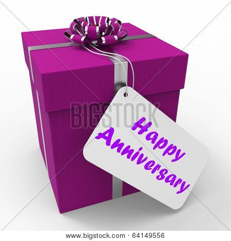 Happy Anniversary Gift Shows Celebrating Years Of Marriage