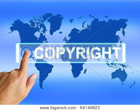 Copyright Map Means Worldwide Patented Intellectual Property