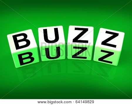 Buzz Blocks Indicate Excitement Attention And Public Visibility