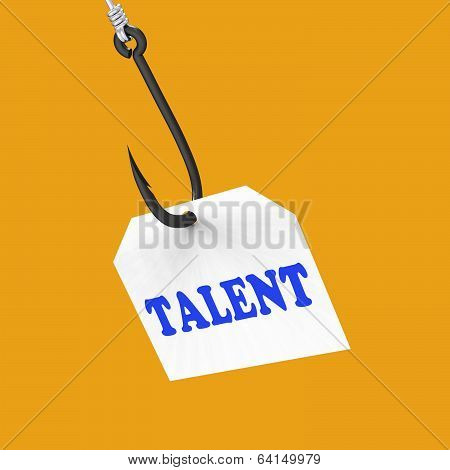 Talent On Hook Shows Special Skills And Abilities