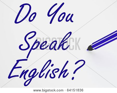 Do You Speak English? On Whiteboard Shows Language Learning And