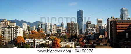 Vancouver skyline by a nice sunny day