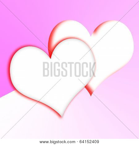 Intertwined Hearts Show Romantic Couple And Marriage