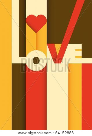 Love poster design. Vector illustration.