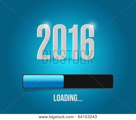 2016 Loading Year Bar Illustration Design